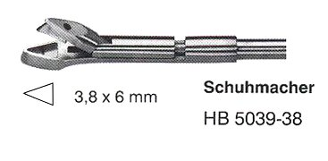 Schuhmacher tip only with tube, 3,8x6mm