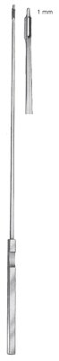 Kevorkian biopsy curette, narrow, 30cm, 11 3/4""