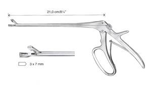 Coppelson biopsy punch, 3x7mm, 21cm, 8 1/4""